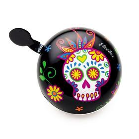 Electra Sugar Skulls Ding Dong soittokello , musta/monivärinen